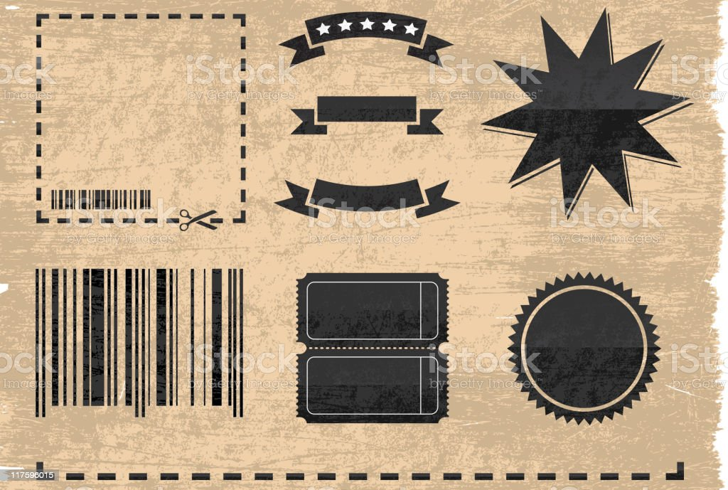 coupon elements on royalty free vector Background royalty-free stock vector art