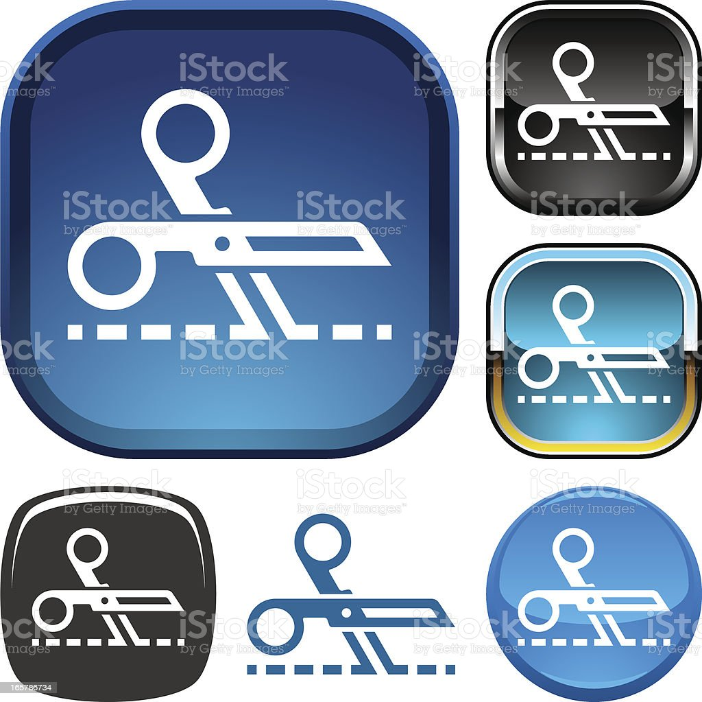 Coupon icon royalty-free stock vector art