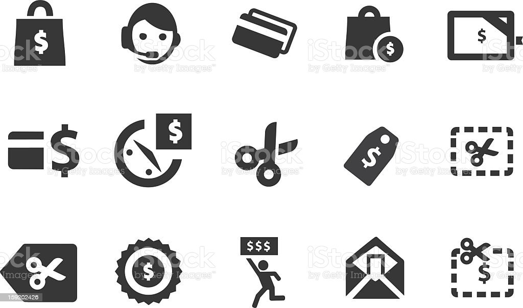 Coupon Icons stock photo