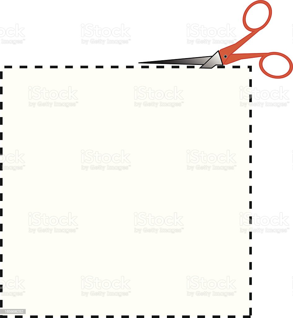 Coupon Square royalty-free stock vector art