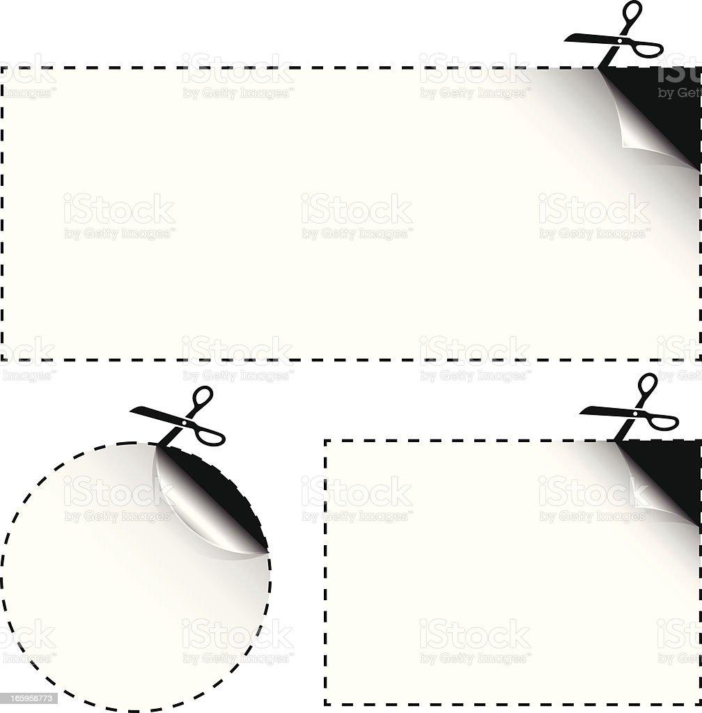 Coupon Templates royalty-free stock vector art