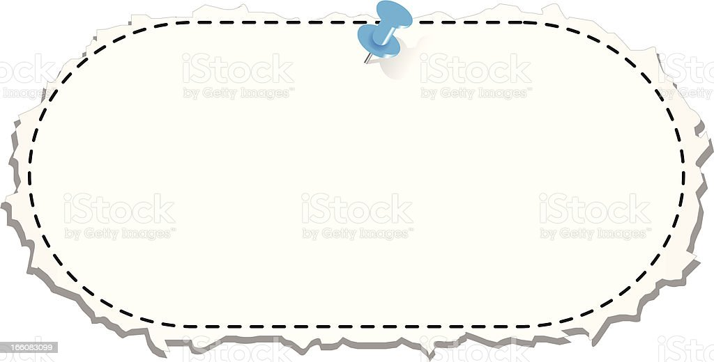 Coupon Torn Out with Tack royalty-free stock vector art