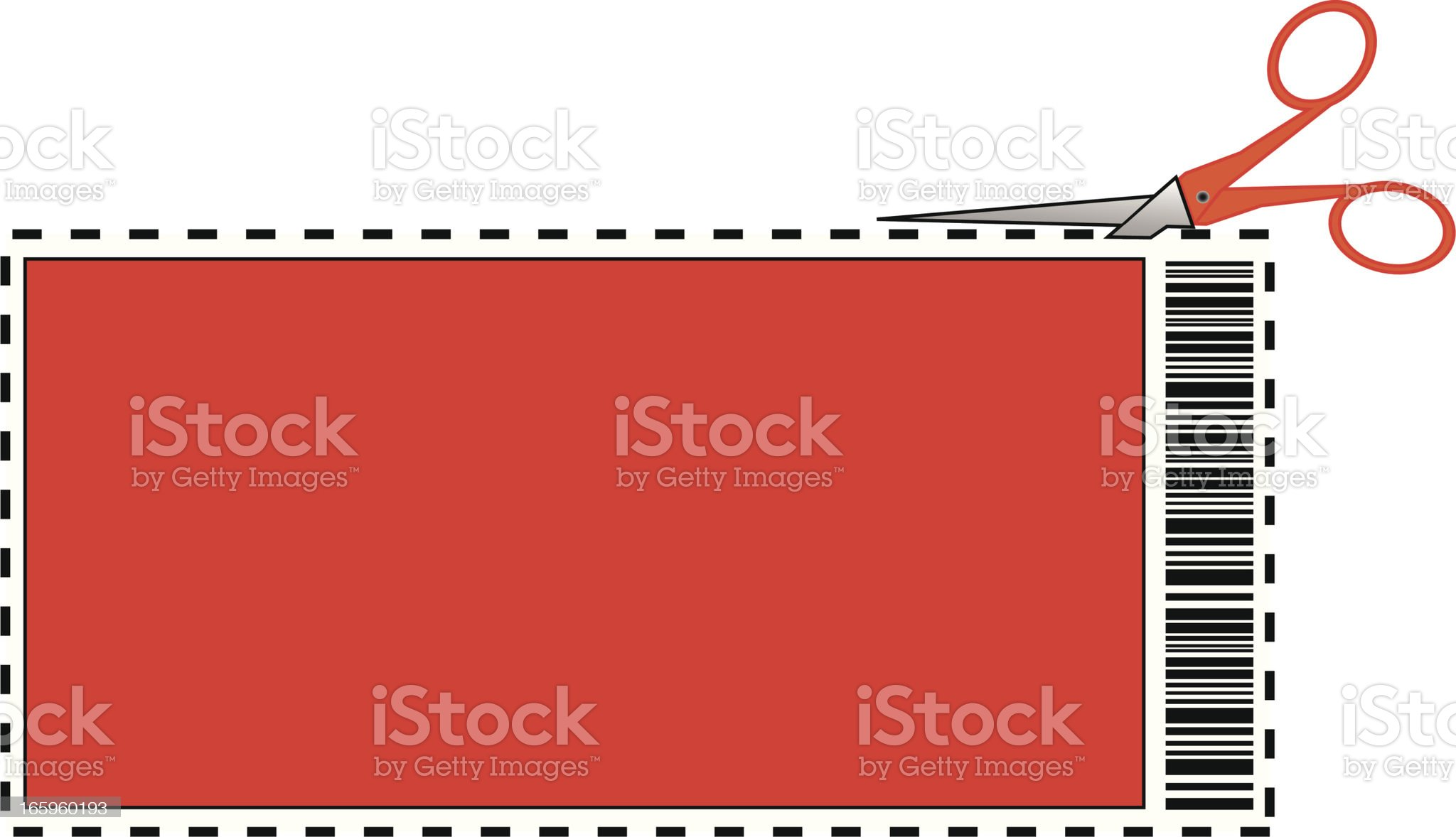 Coupon with Bar Code royalty-free stock vector art