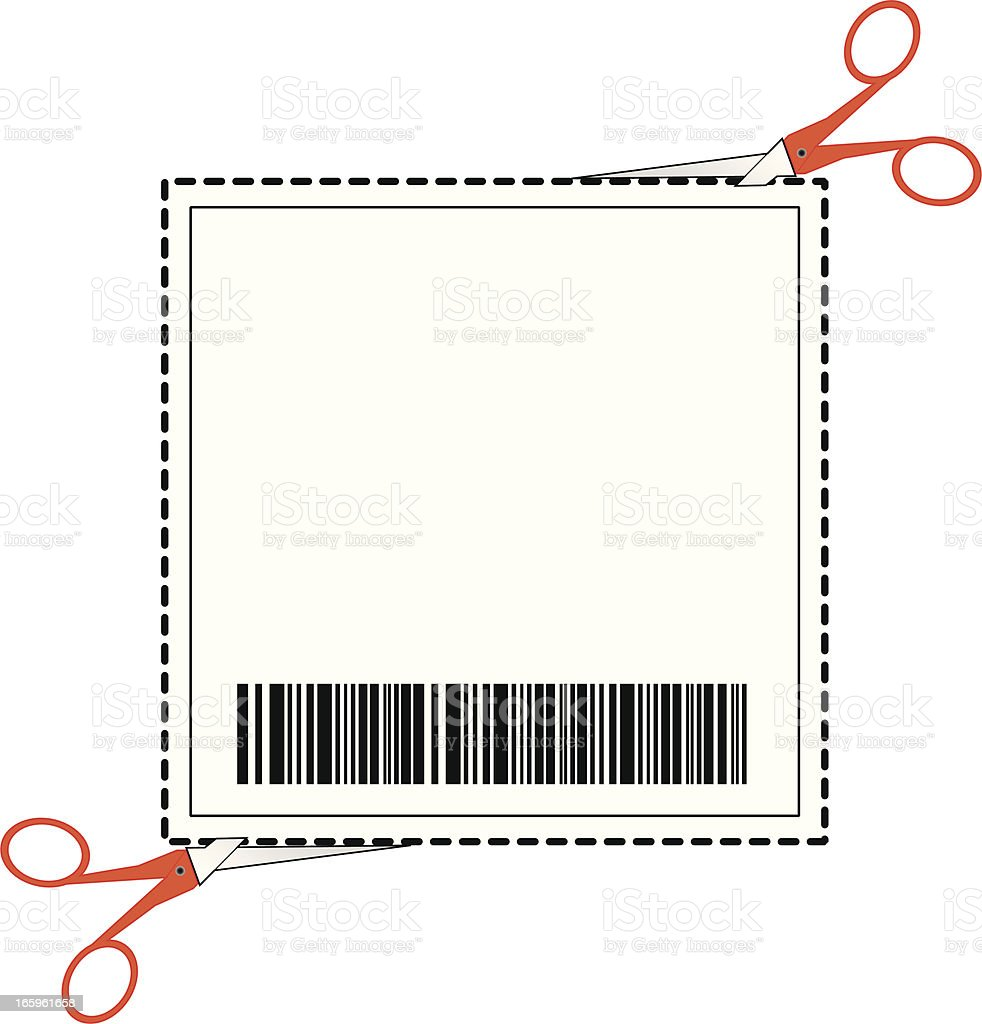 Coupon With Barcode royalty-free stock vector art