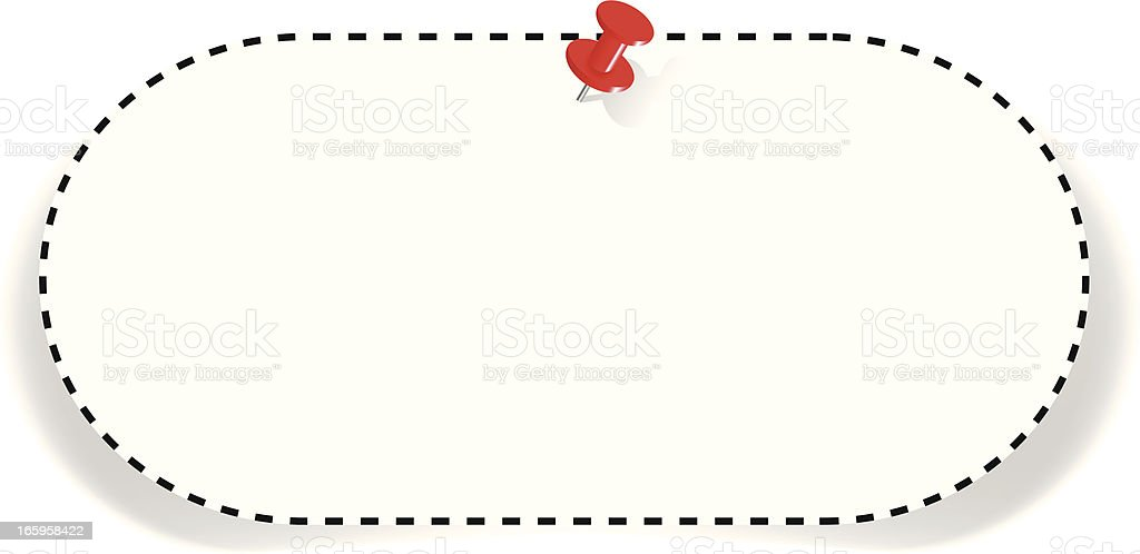 Coupon with Tack royalty-free stock vector art