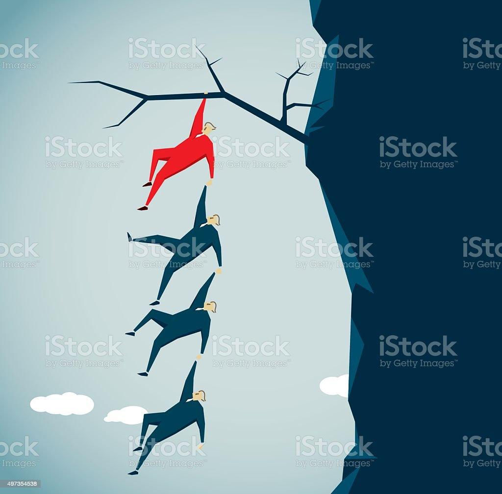 Courage vector art illustration