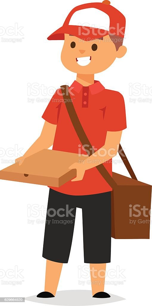 Courier character vector vector art illustration