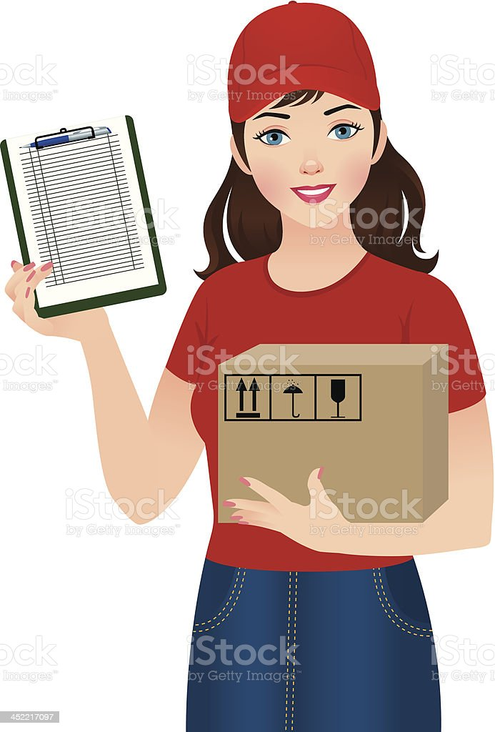 Courier delivery services royalty-free stock vector art