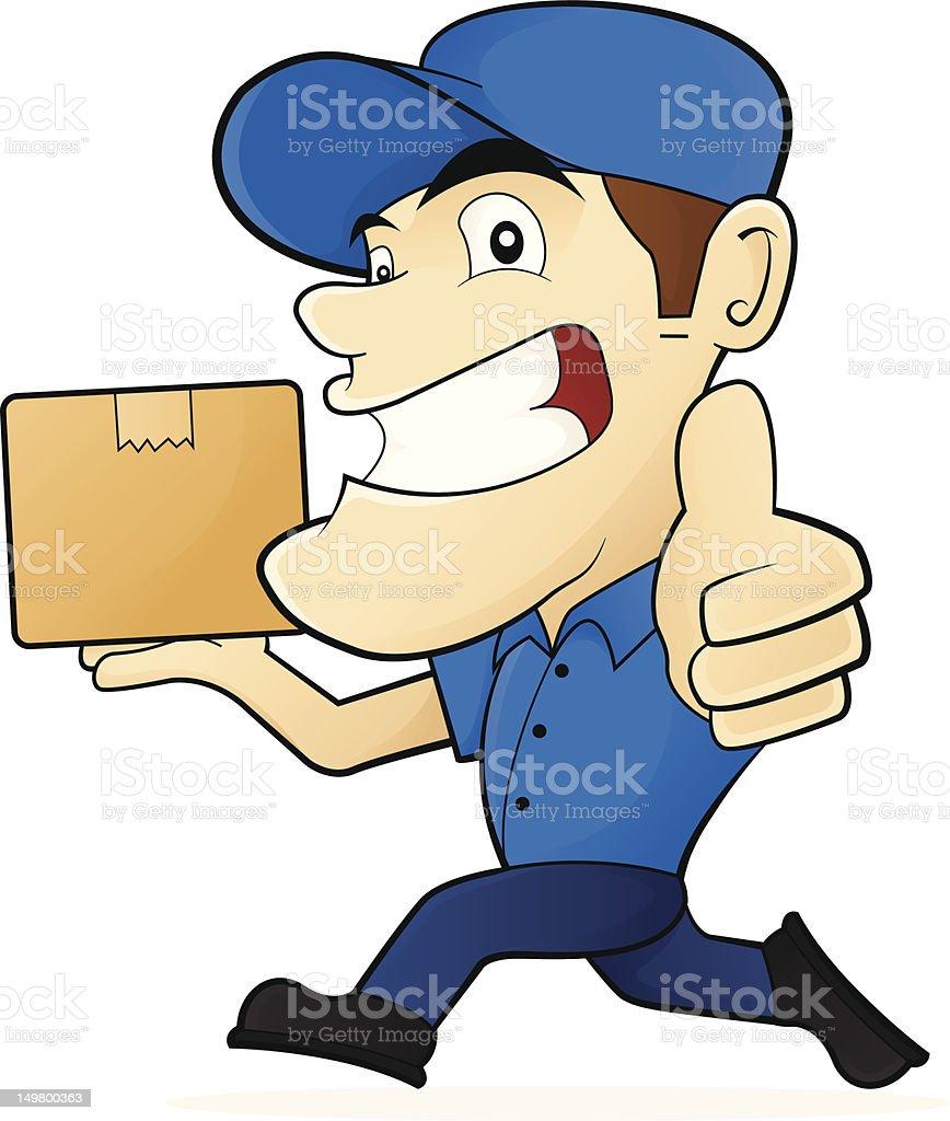 Courier / Deliveryman / Move Service vector art illustration