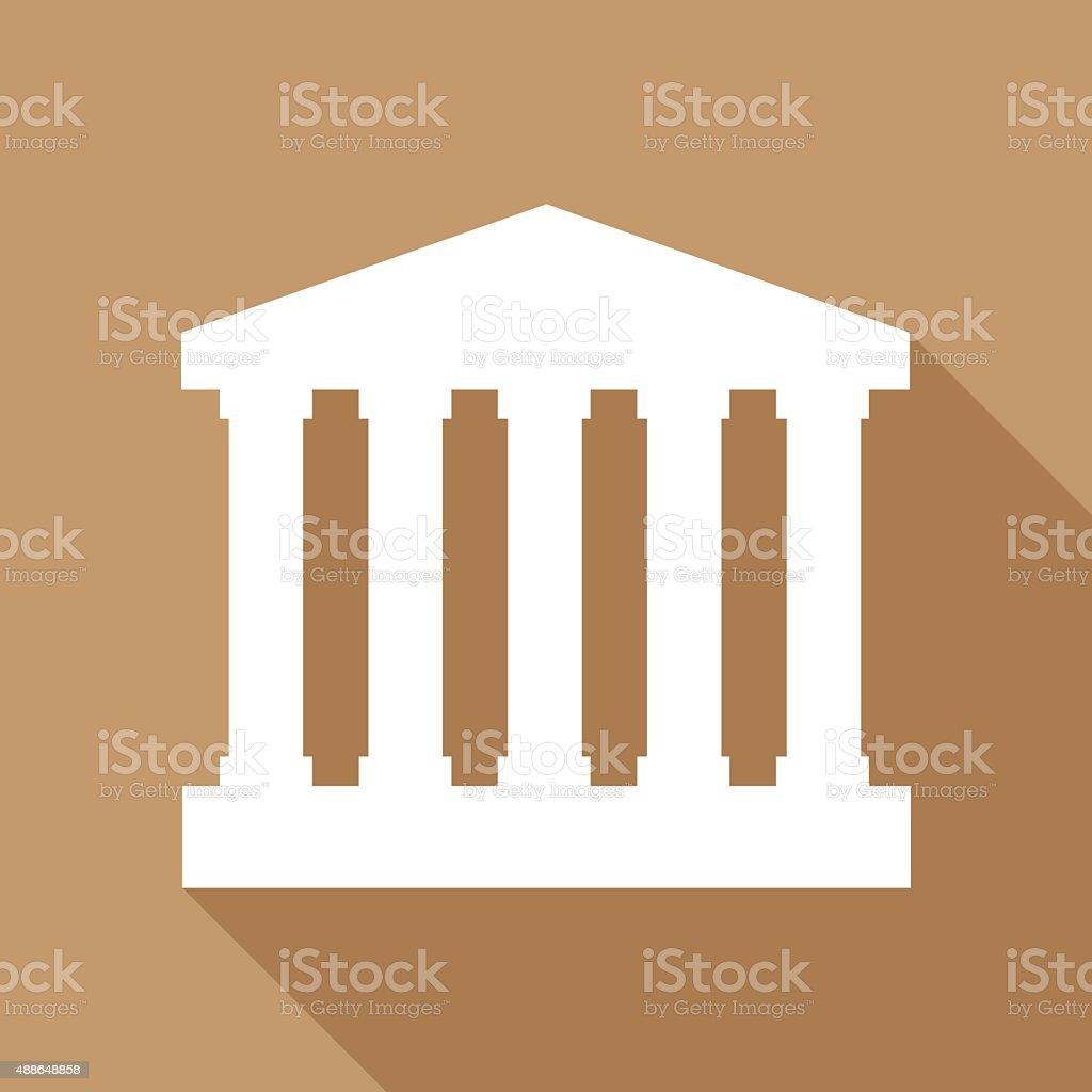 Court house Icon vector art illustration