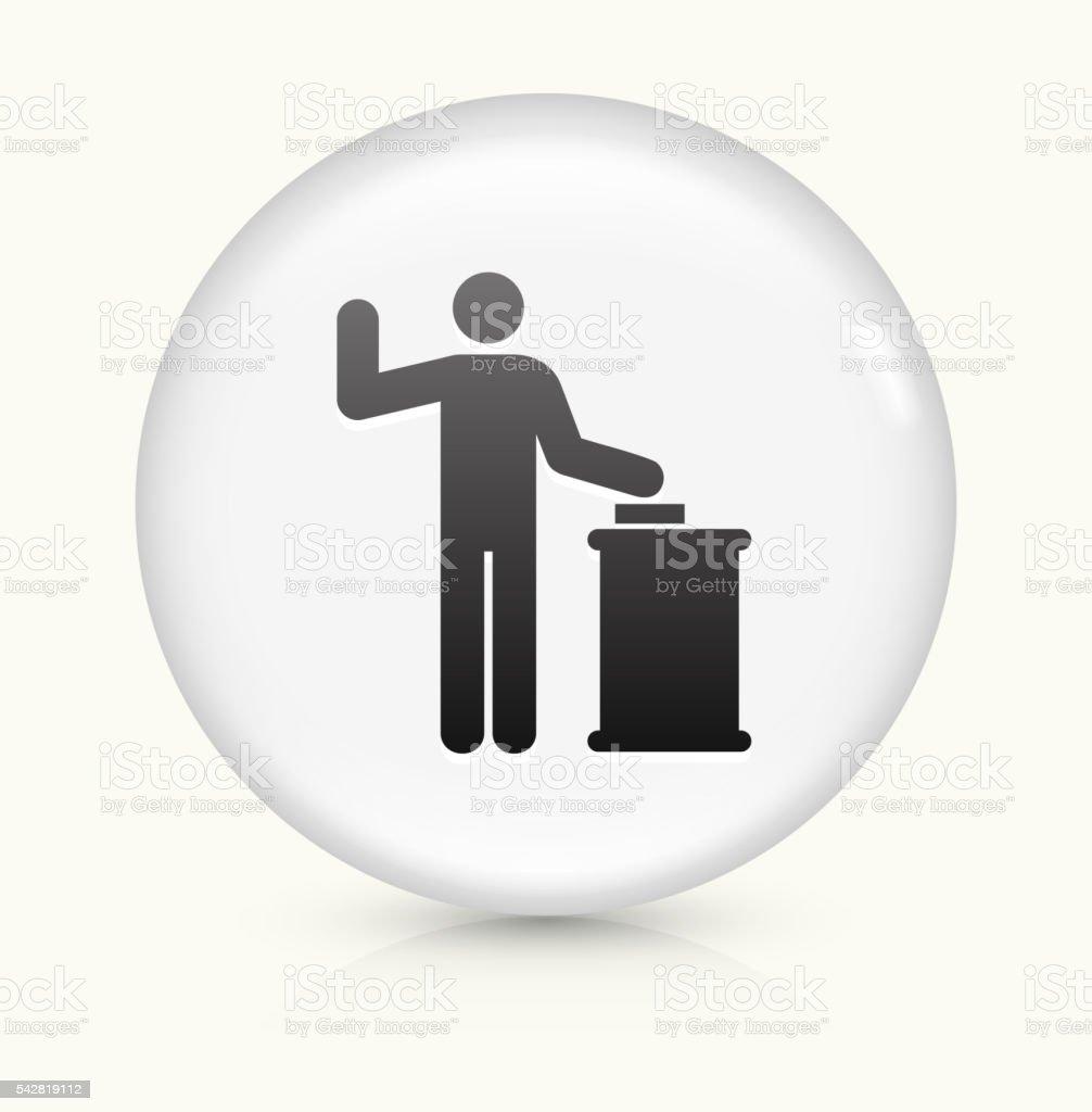 Court Oath icon on white round vector button vector art illustration