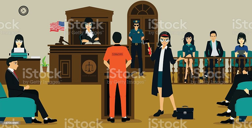 Court Of Justice vector art illustration