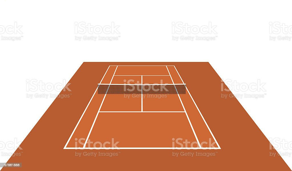 Court open (clay) - vector royalty-free stock vector art