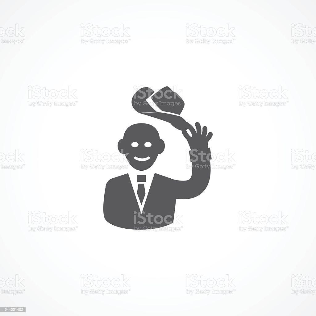 Courtesy icon vector art illustration