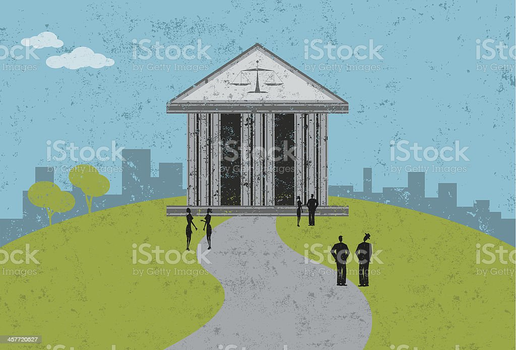 courthouse royalty-free stock vector art