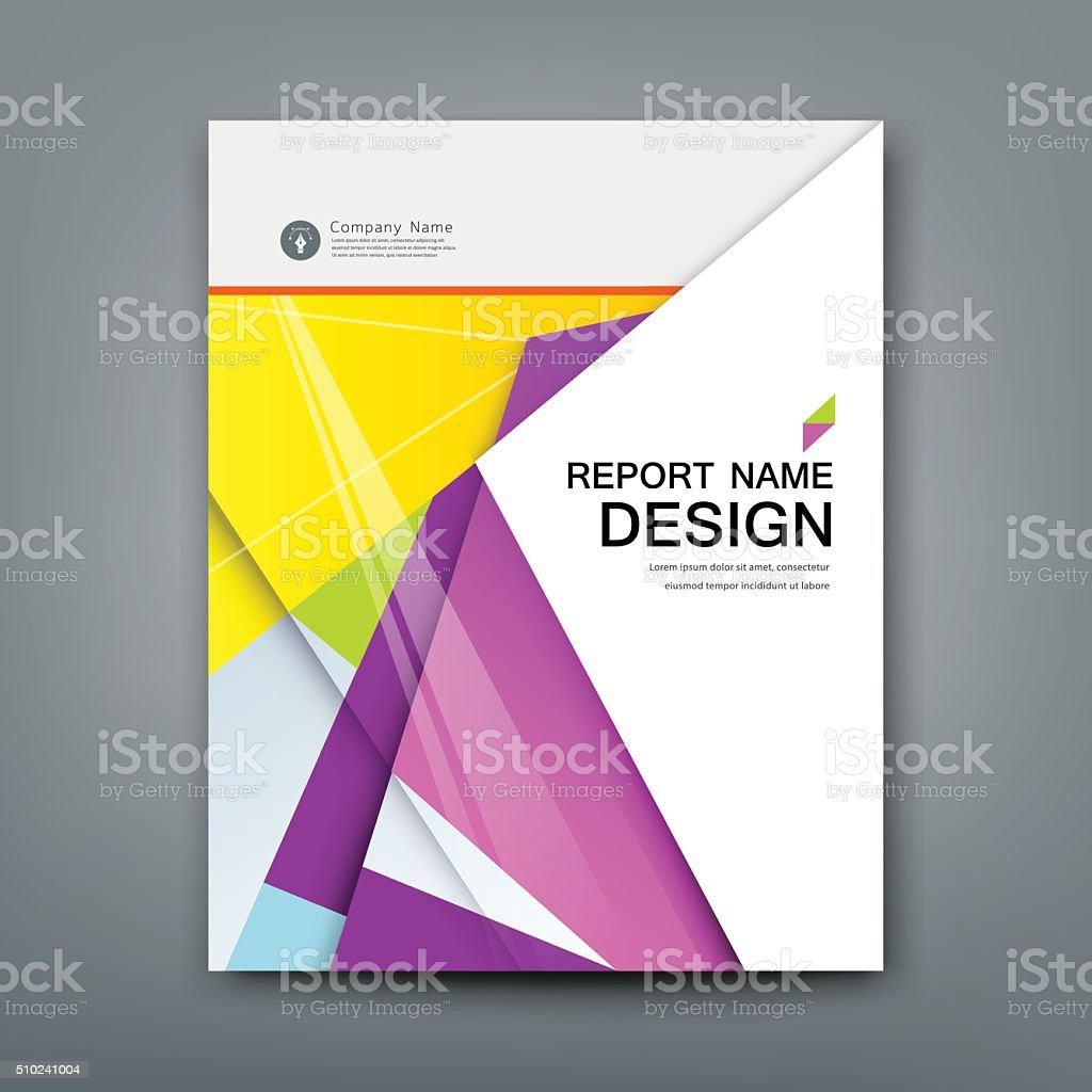 Cover Annual Report Abstract material geometric colorful vector art illustration