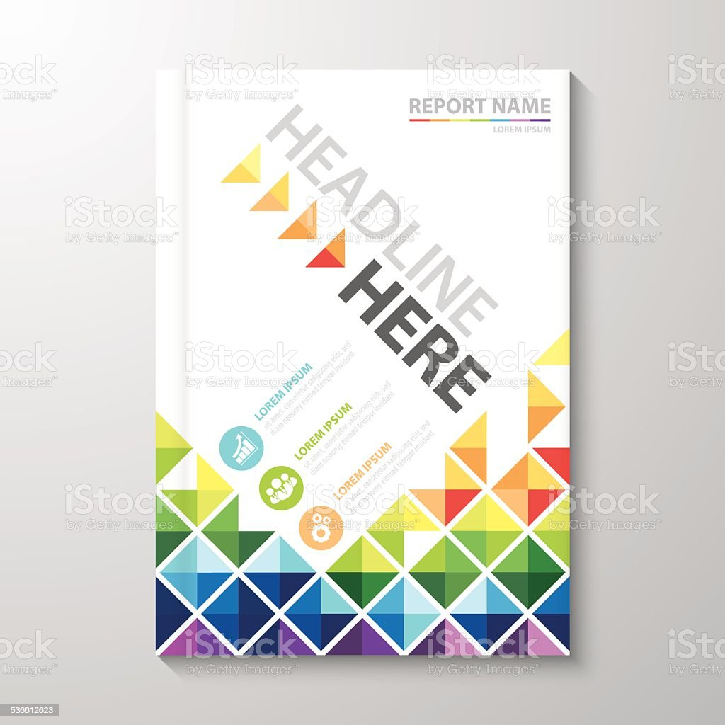 Cover Annual report design vector art illustration