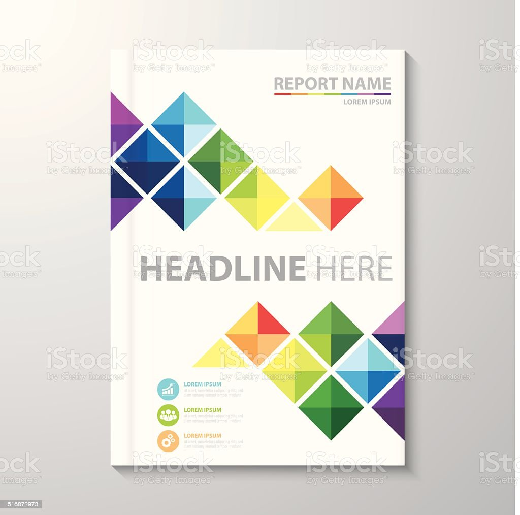 Cover Annual report vector art illustration