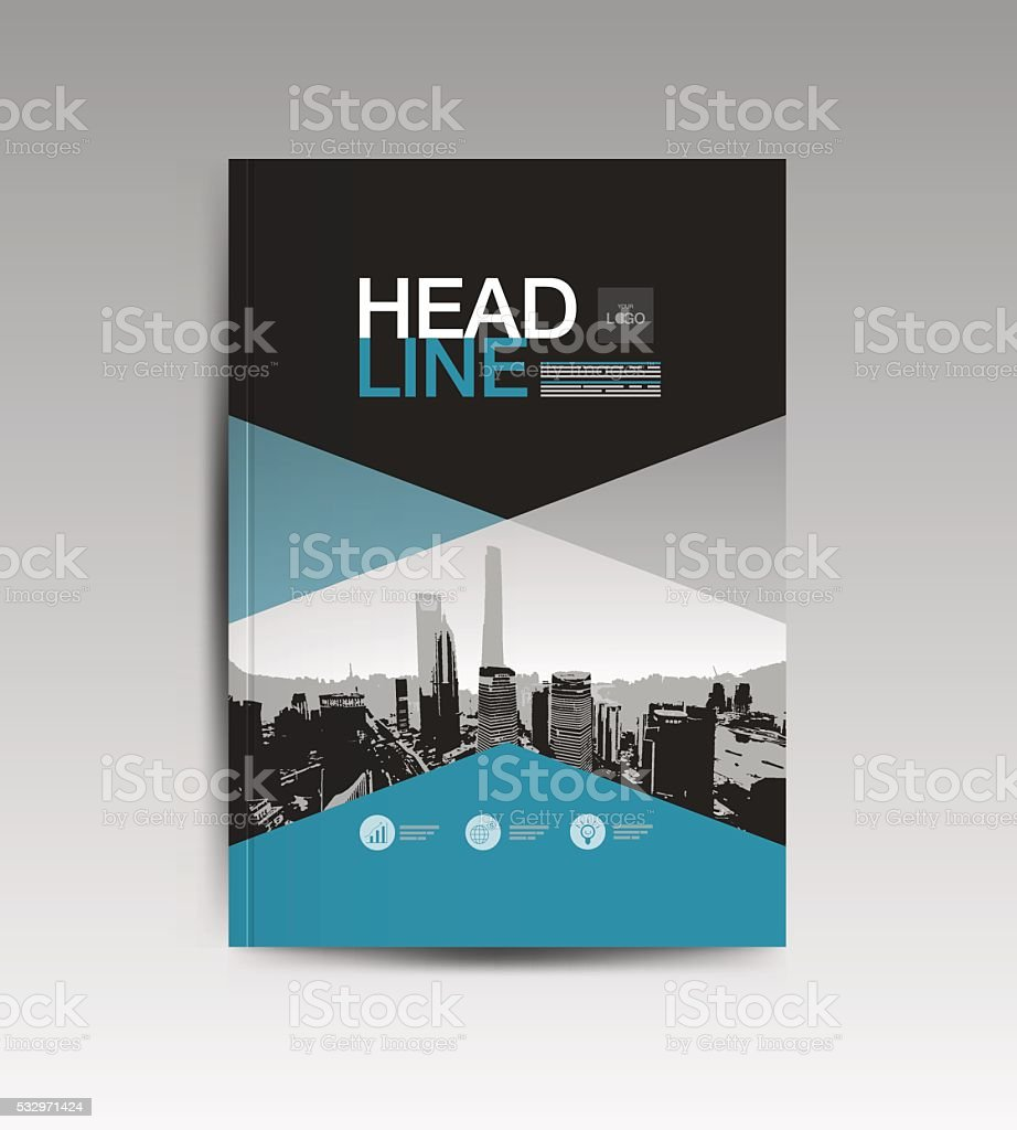 cover book template layout vector art illustration