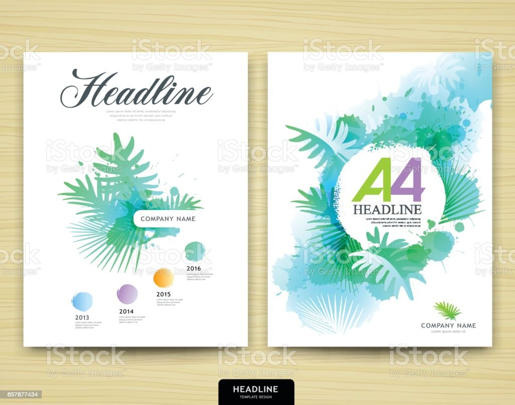 Cover design annual report magazine royalty free stock vector art - Cover Design Annual Report Leaf Tree Nature Design Royalty Free Stock Vector Art