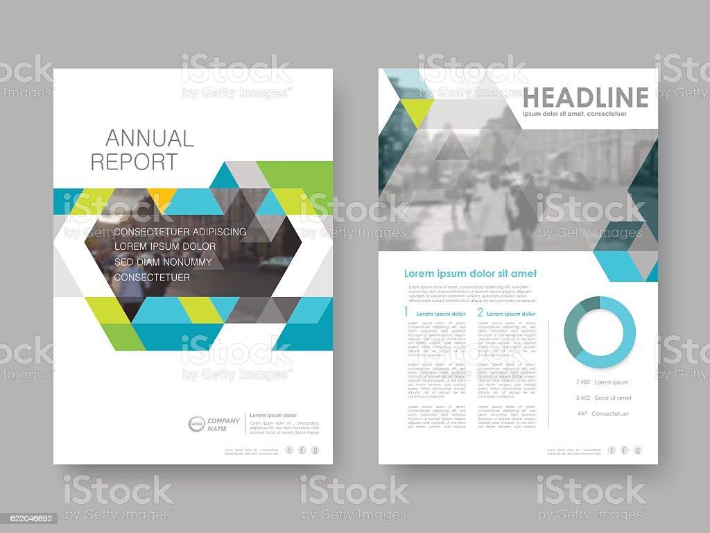 Cover design annual report vector art illustration