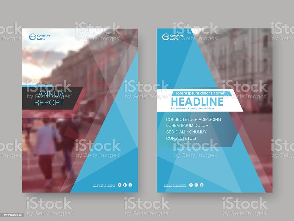 Cover design annual report vector art illustration