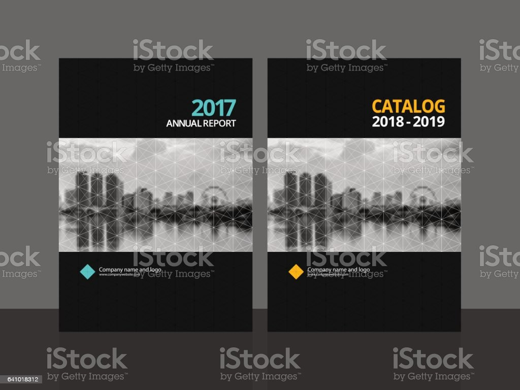 Cover design annual report magazine royalty free stock vector art - Cover Design For Annual Report And Business Catalog Magazine Flyer Or Booklet Brochure
