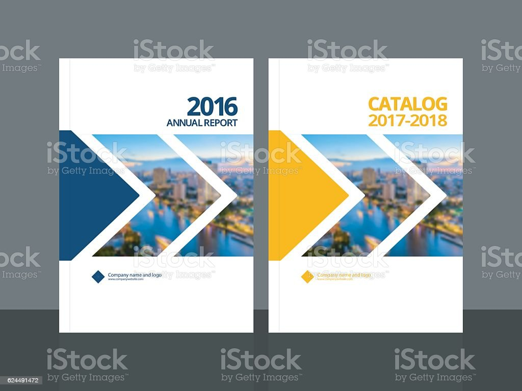 Cover design for annual report and business catalog vector art illustration
