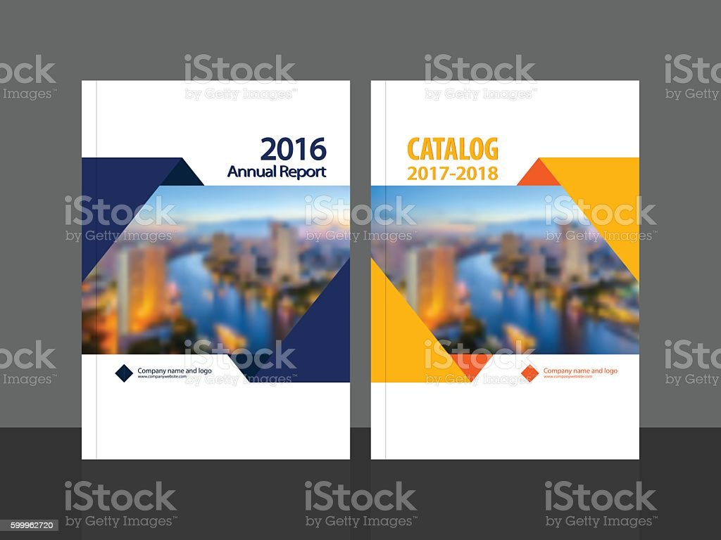 Cover design for annual report and catalog vector art illustration