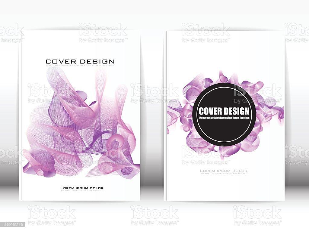Cover Design Template Publication vector art illustration