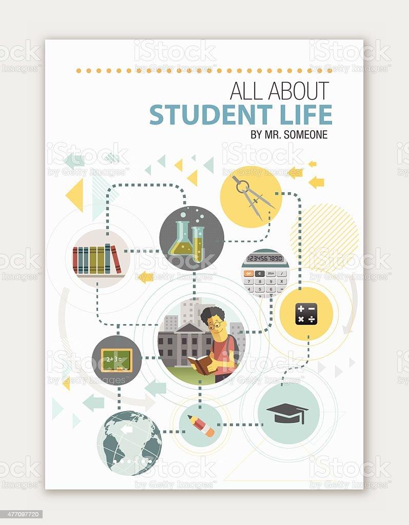 Cover for educational institute vector art illustration
