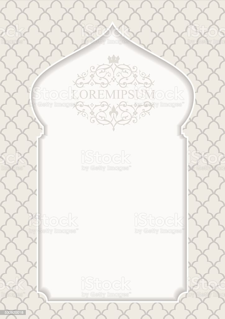Cover in oriental style vector art illustration