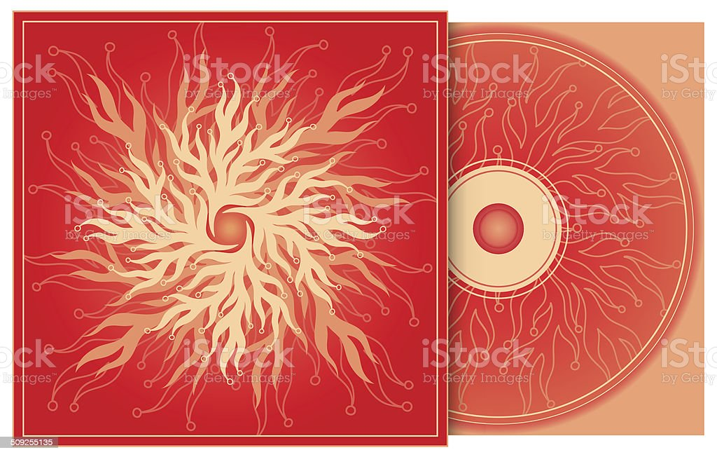 CD cover in red vector art illustration
