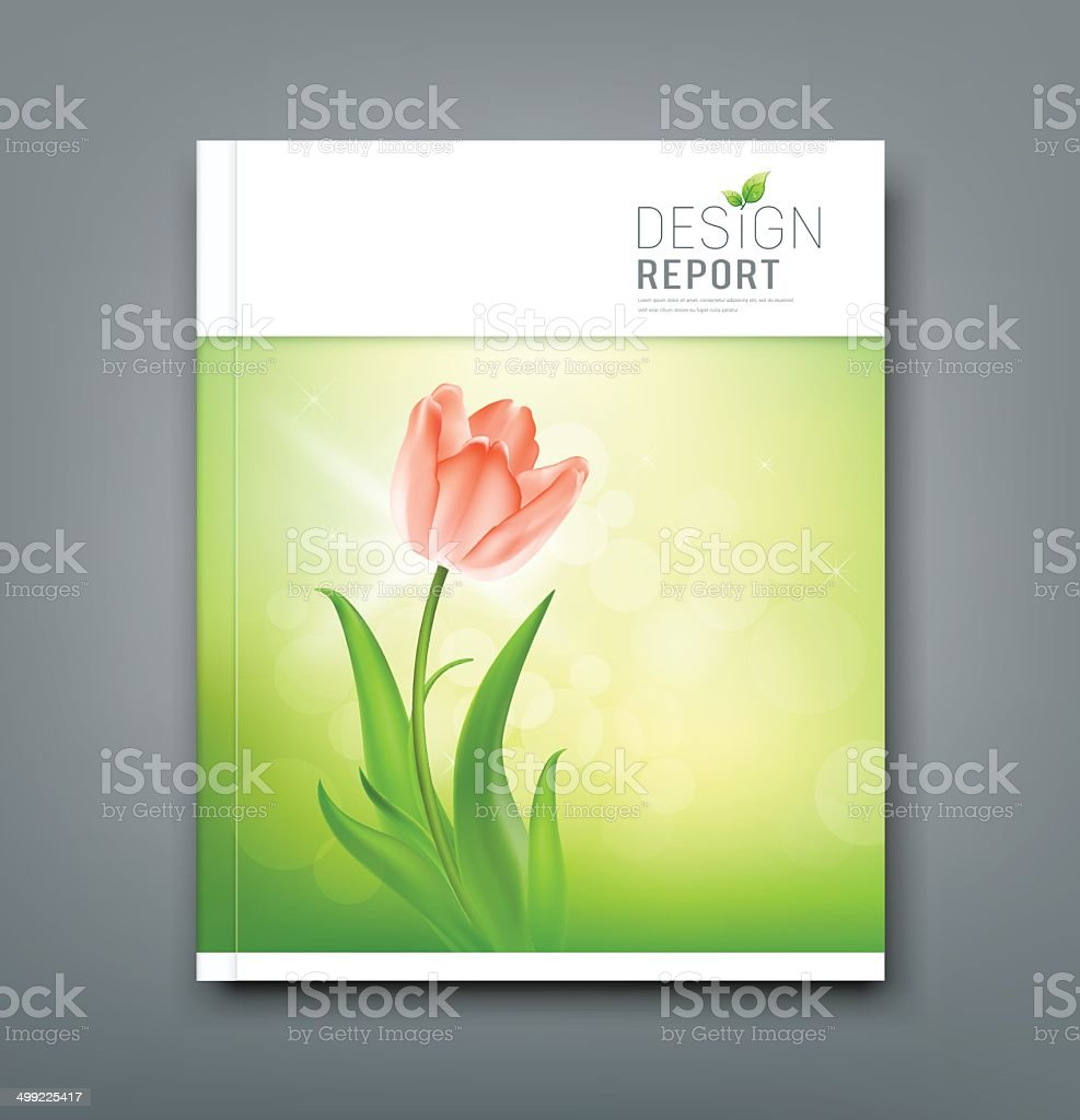 Cover Magazine Beautiful tulips royalty-free stock vector art