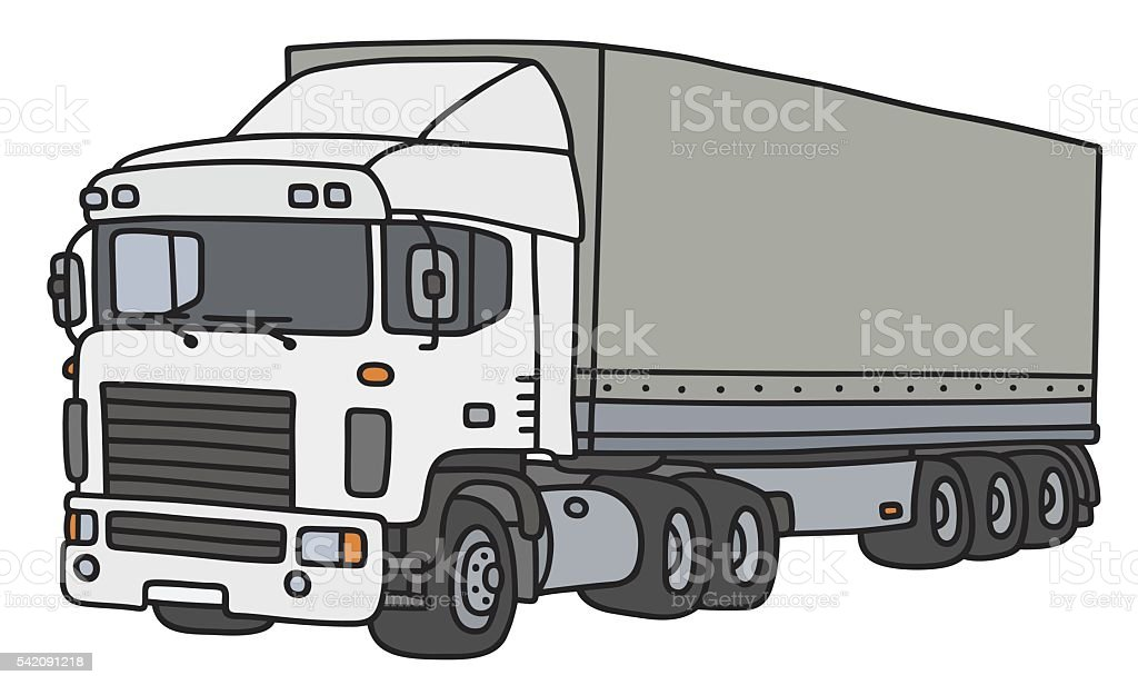 Cover semitrailer truck vector art illustration