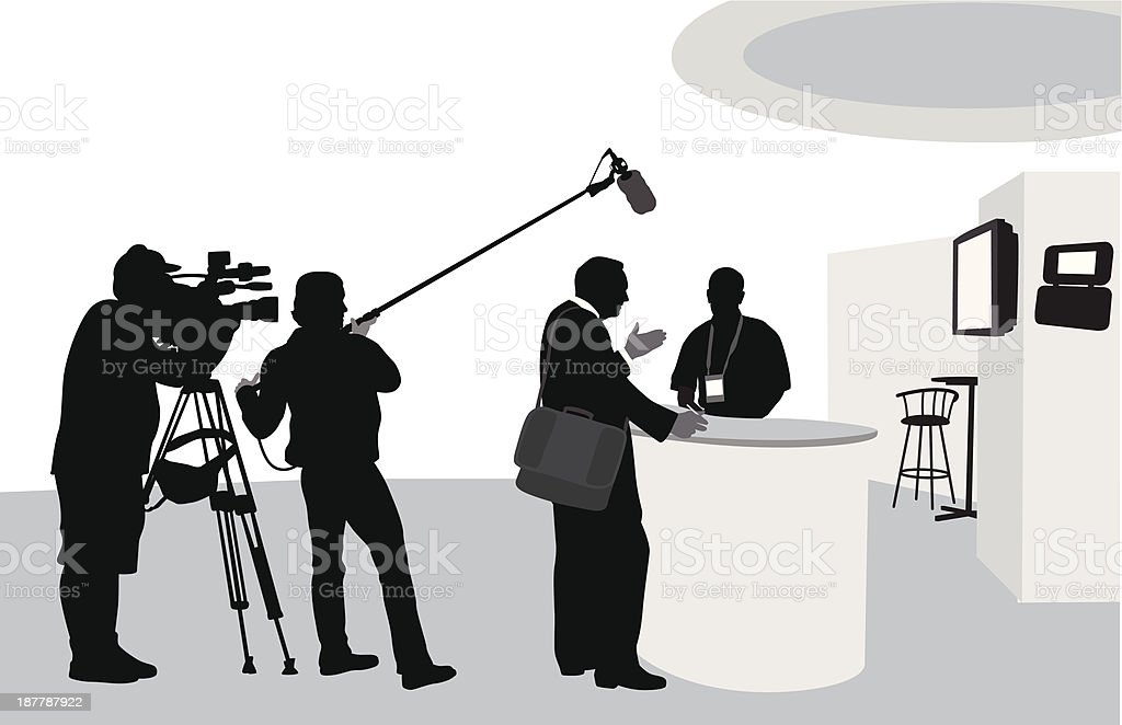TV coverage royalty-free stock vector art