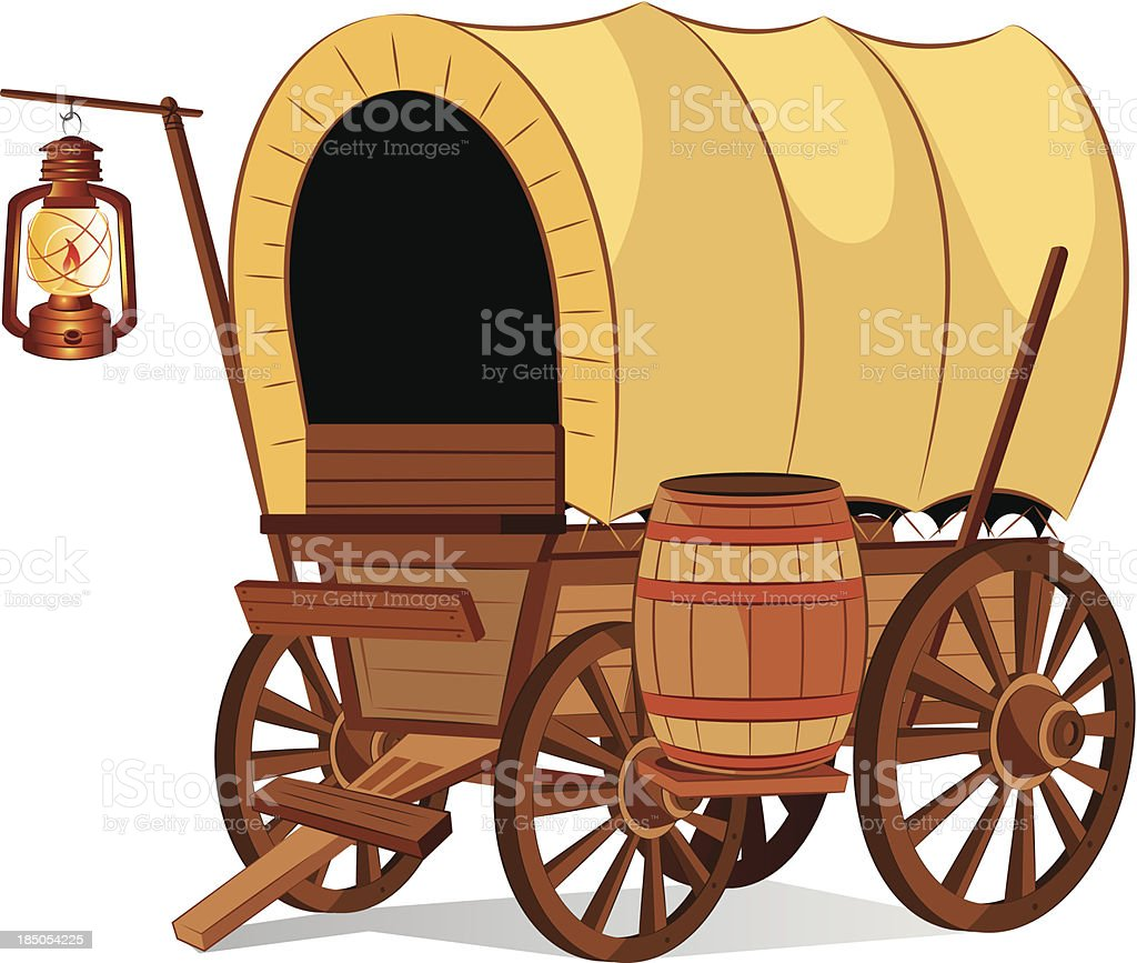 Covered Wagon vector art illustration