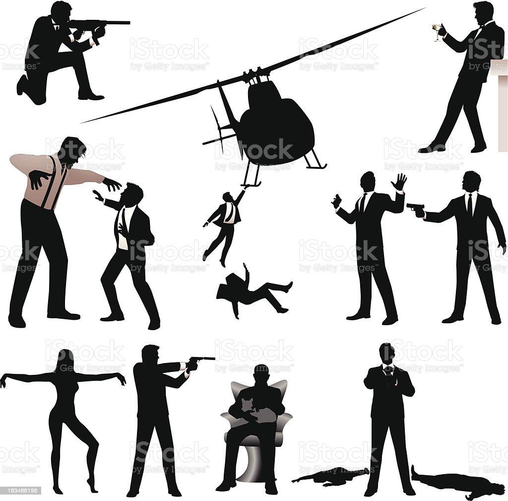 Covert Agent royalty-free stock vector art