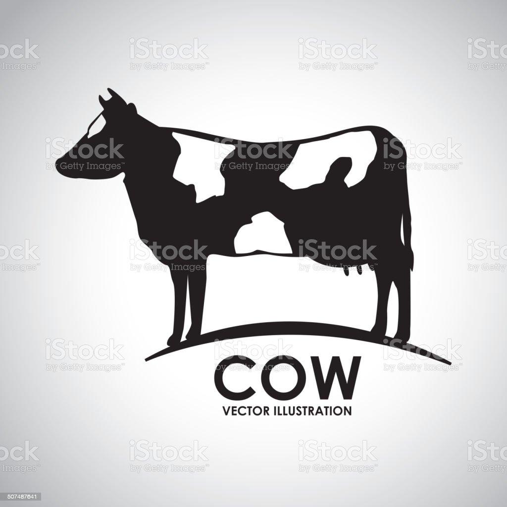 cow design vector art illustration