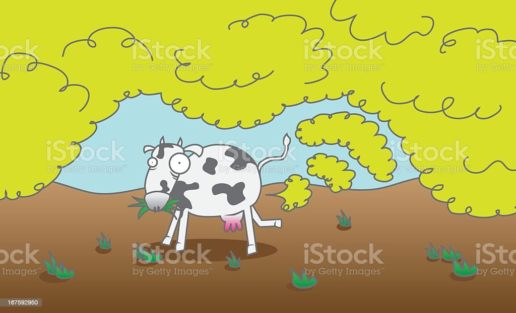 Cow Gas royalty-free stock vector art