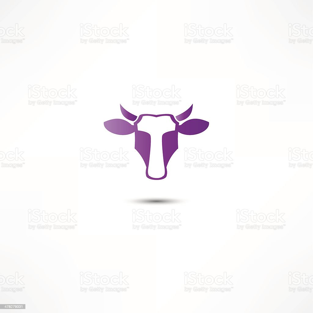 Cow Icon royalty-free stock vector art