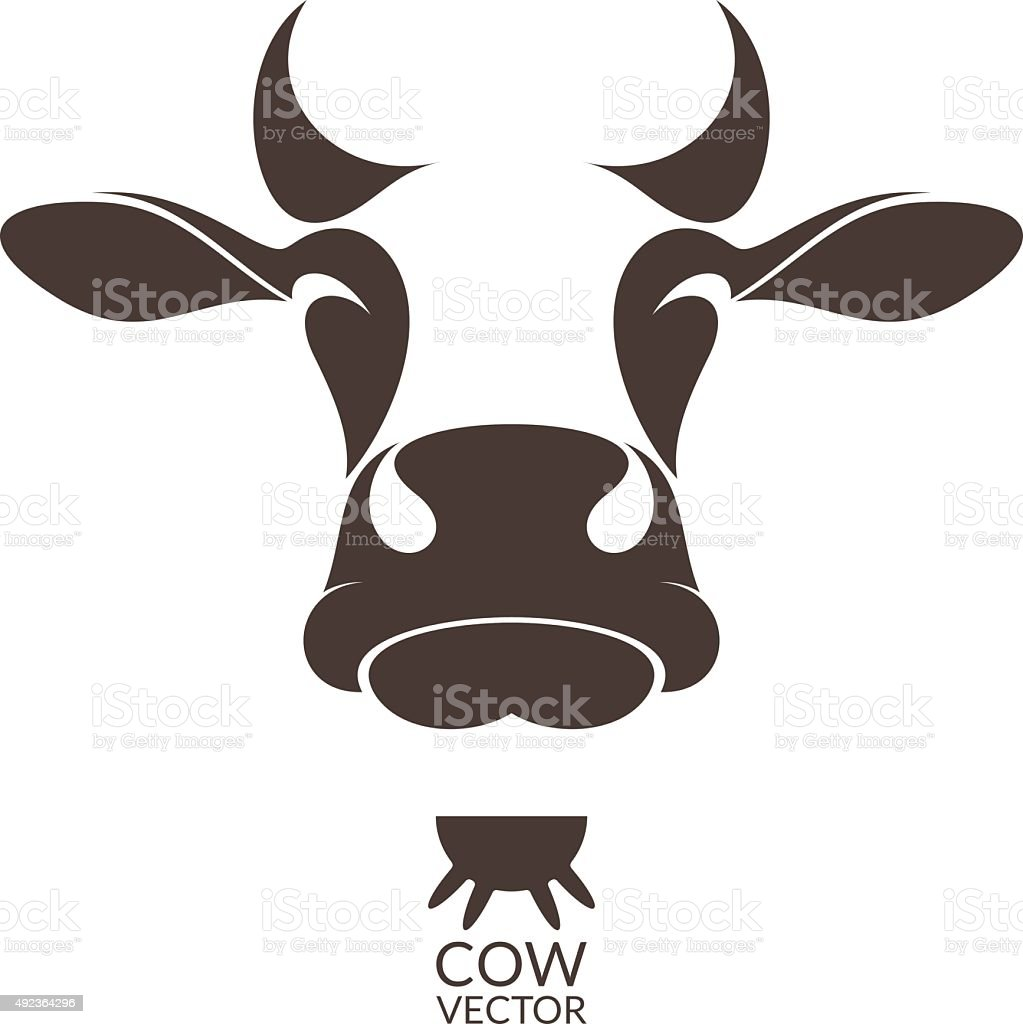 Cow. Isolated animal on white background vector art illustration