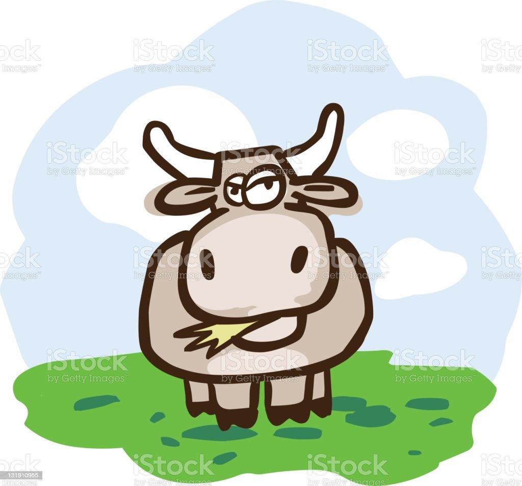 Cow on the Farm royalty-free stock vector art