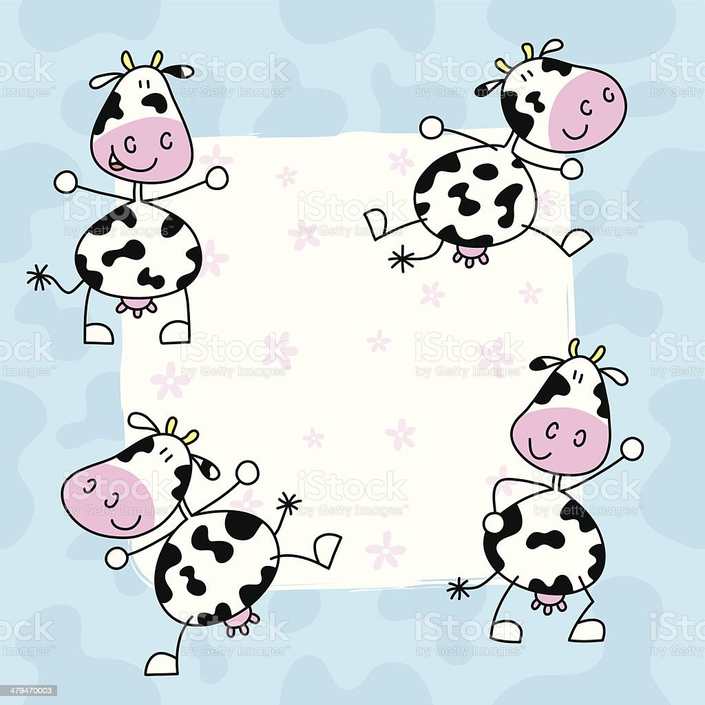 Cow patterns royalty-free stock vector art