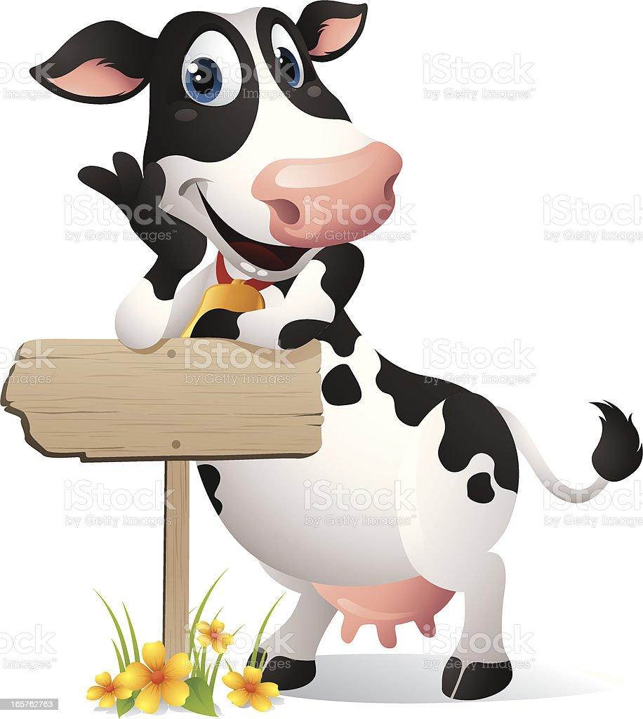 Cow - Sign vector art illustration