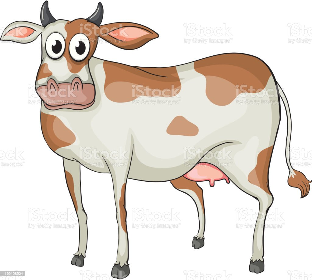 Cow vector art illustration