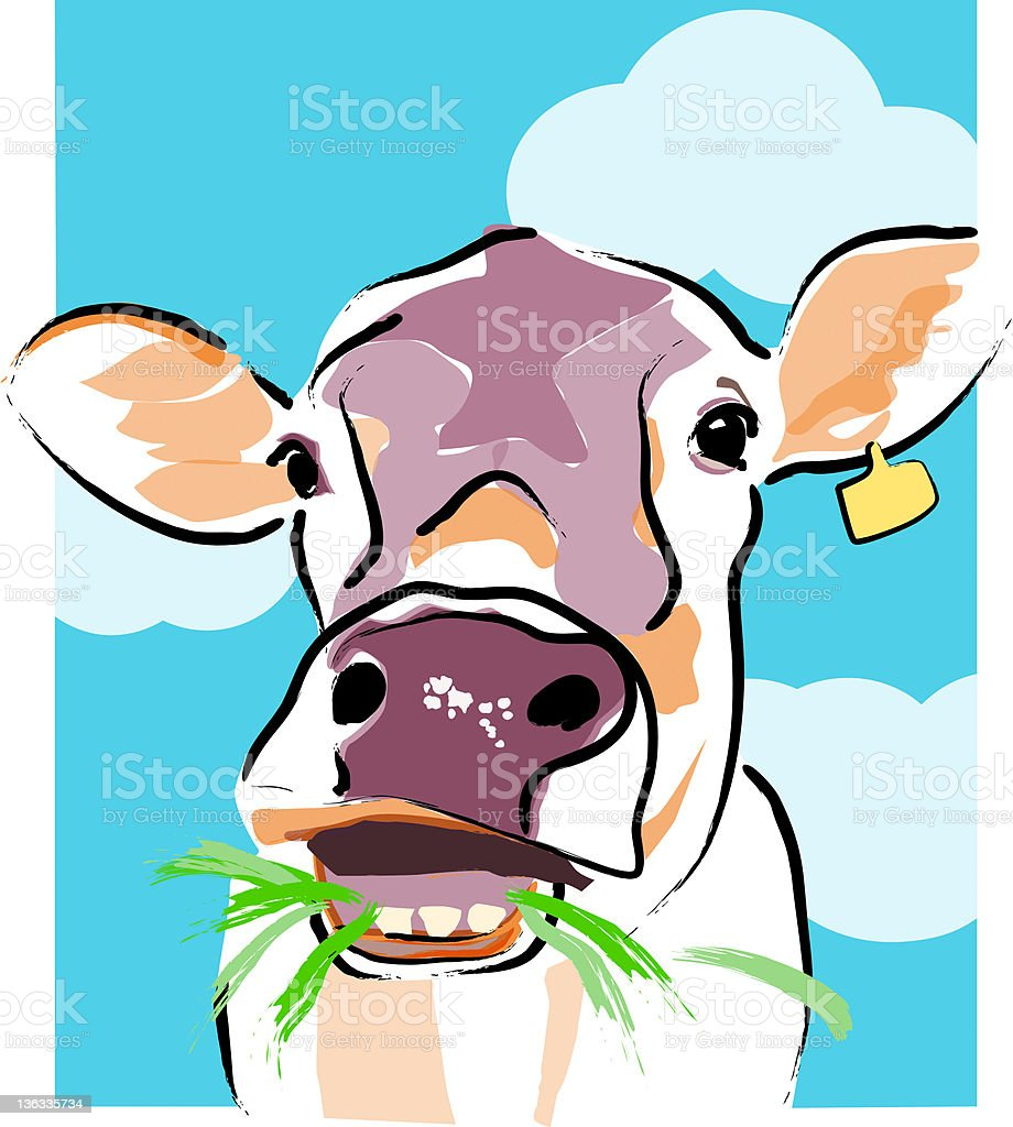 Cow Vector Painting royalty-free stock vector art