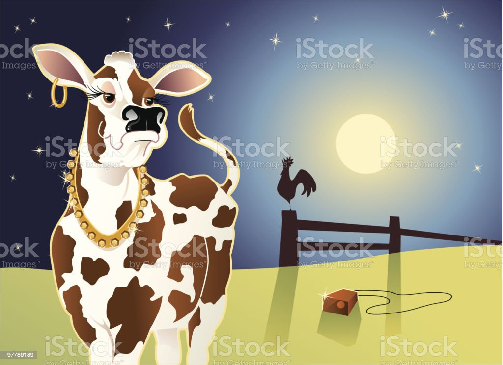 Cow with an Attitude royalty-free stock vector art