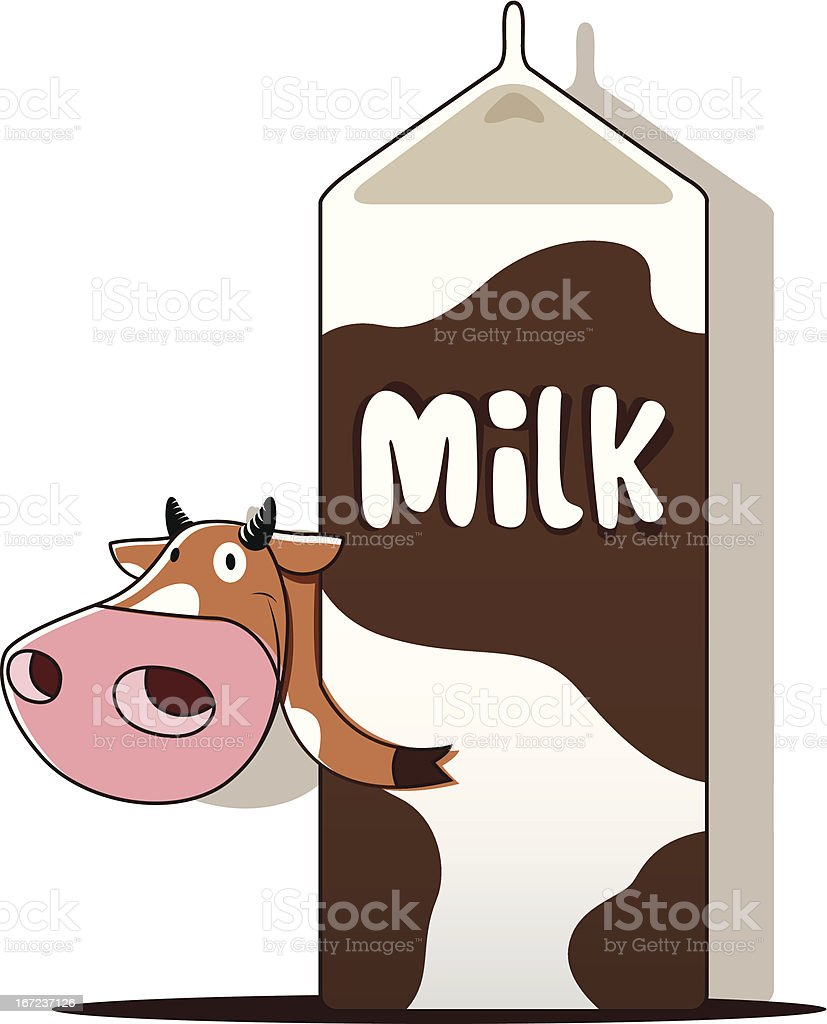 Cow with milk royalty-free stock vector art