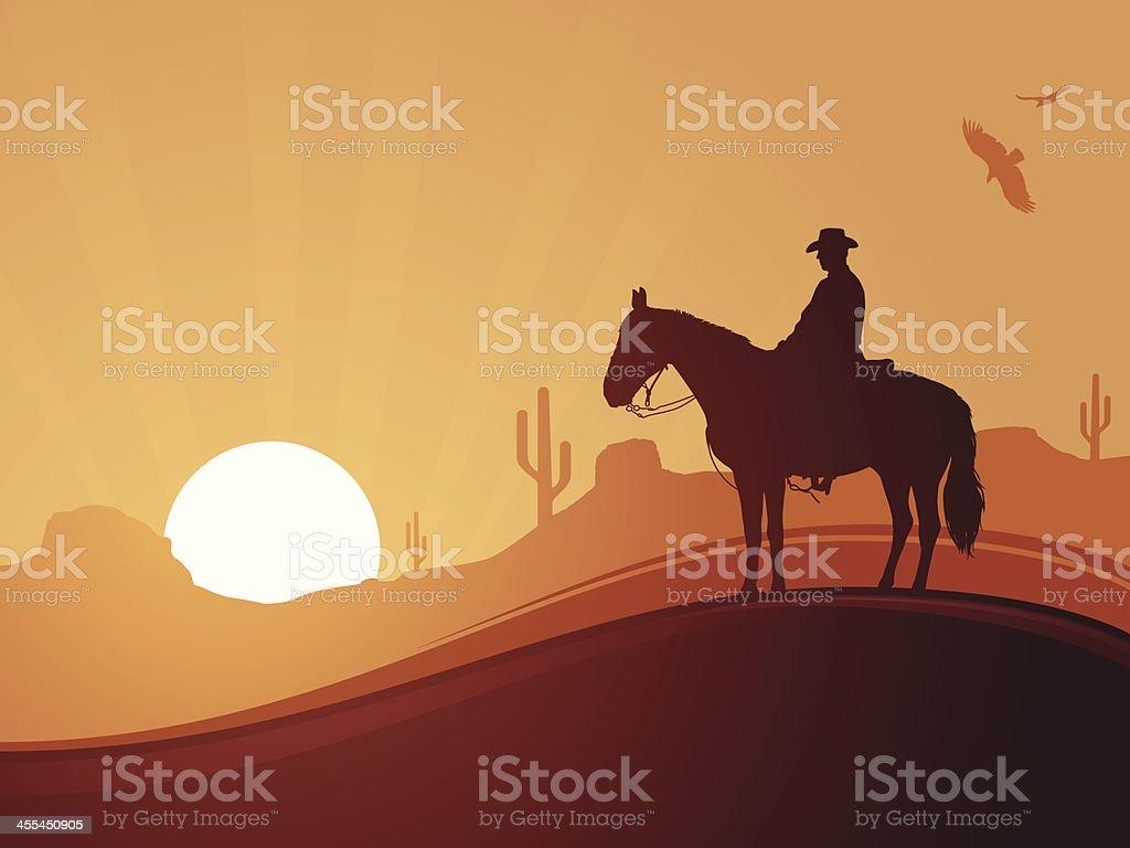 Cowboy Background vector art illustration
